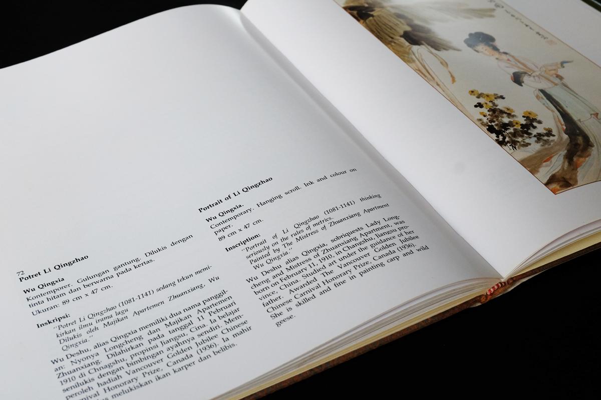 """Buku """"Koleksi Lukisan Cina Adam Malik"""" (Yayasan Derita Cita, Jakarta: 1983). Dok.: Desain Grafis Indonesia"""