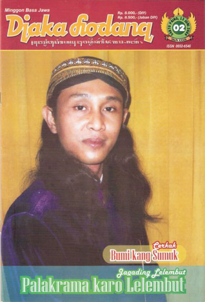 Gambar 2 - Sampul majalah Djaka Lodang