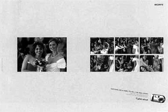 Gambar 4. Sebuah contoh iklan yang menggunakan prinsip kedekatan atau pengelompokan (proximity)( Sumber: Archive, vol. 3 2003)