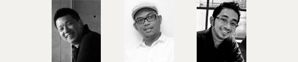Kiri–Kanan: Nico A Pranoto, Irvan N Suryanto, dan Bima Shaw.