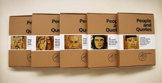 Packaging calendar dengan 5 tokoh berbeda (John Lennon, Einstein, Soekarno, Che Guevara dan Sun Tzu)-A