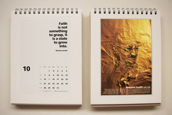 Oktober: Mahatma Gandhi (2 Oktober 1896)