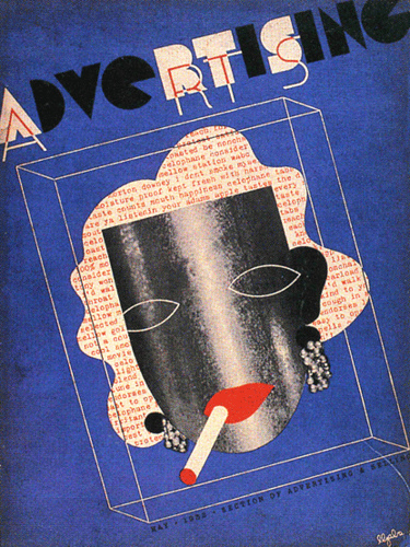 Cover art work by John Atherton 1934, for the American magazine Advertising Art