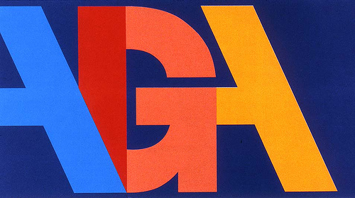 A design for AIGA or American Institute for Graphic Arts