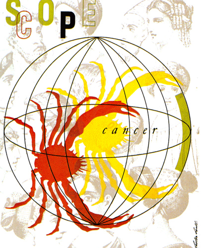 A Lester Beall cover design for the 1948 issue of Scope