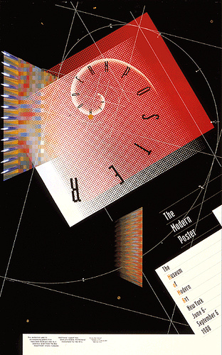 April Greiman Inc. design for the Modern Poster exhibition, Museum of Modern Art 1987