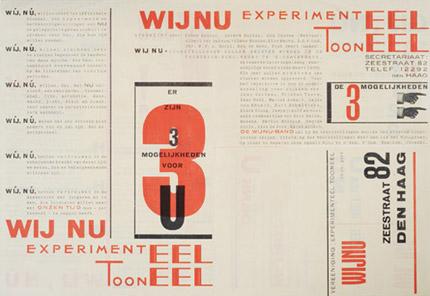 Piet Zwart, broadside announcement for Experimenteel Tooneel WijNu, 1925