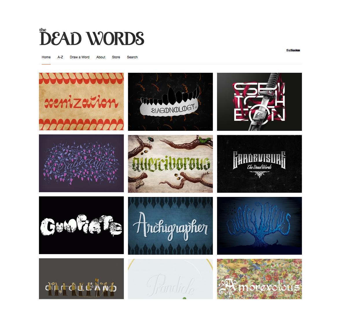 Tampilan situs The Dead Words