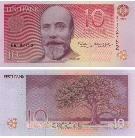 Estonian Krooni Money