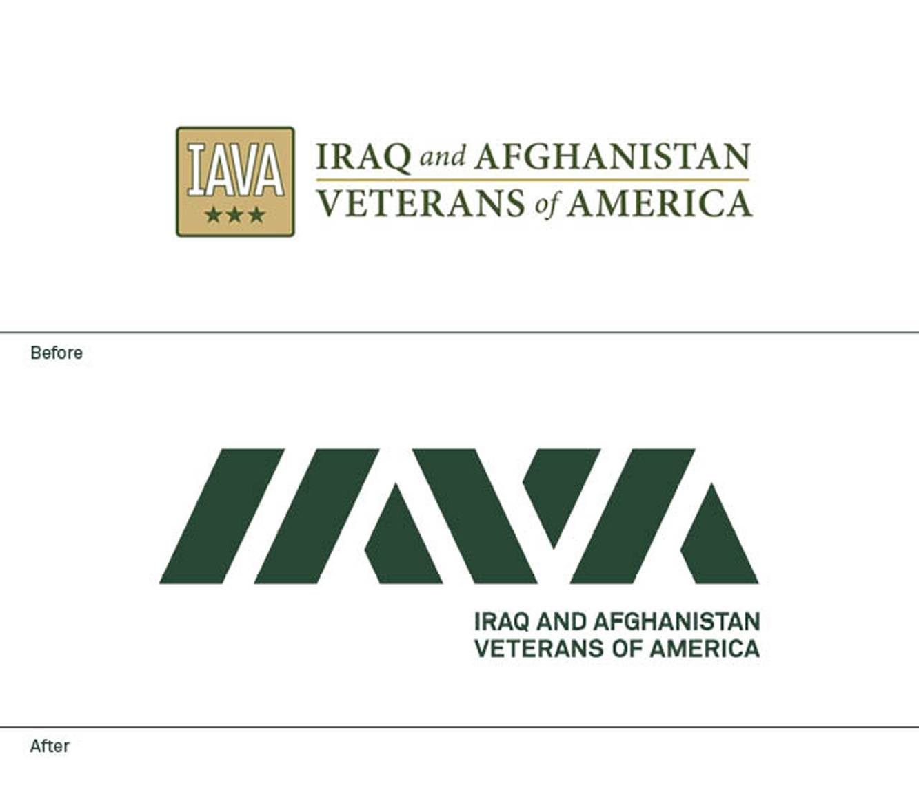 IAVA Visual Identity- A New Way to Celebrate Our Troops: Landor, New York, New York, 2013