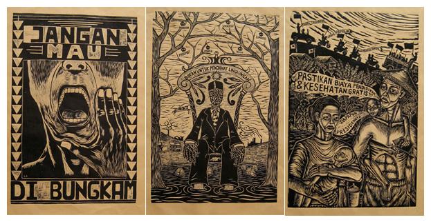 Contoh karya dari Taring Padi. (Sumber gambar http://taringpadi.com).