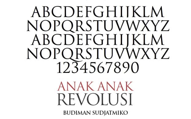 Jenis huruf Trajan dan penerapannya