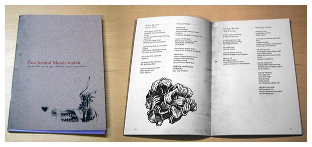 """Kumpulan Puisi Wiji Thukul dalam pelarian, """"Para Jendral Marah-marah. Edisi khusus Majalah Tempo, Mei 2013."""