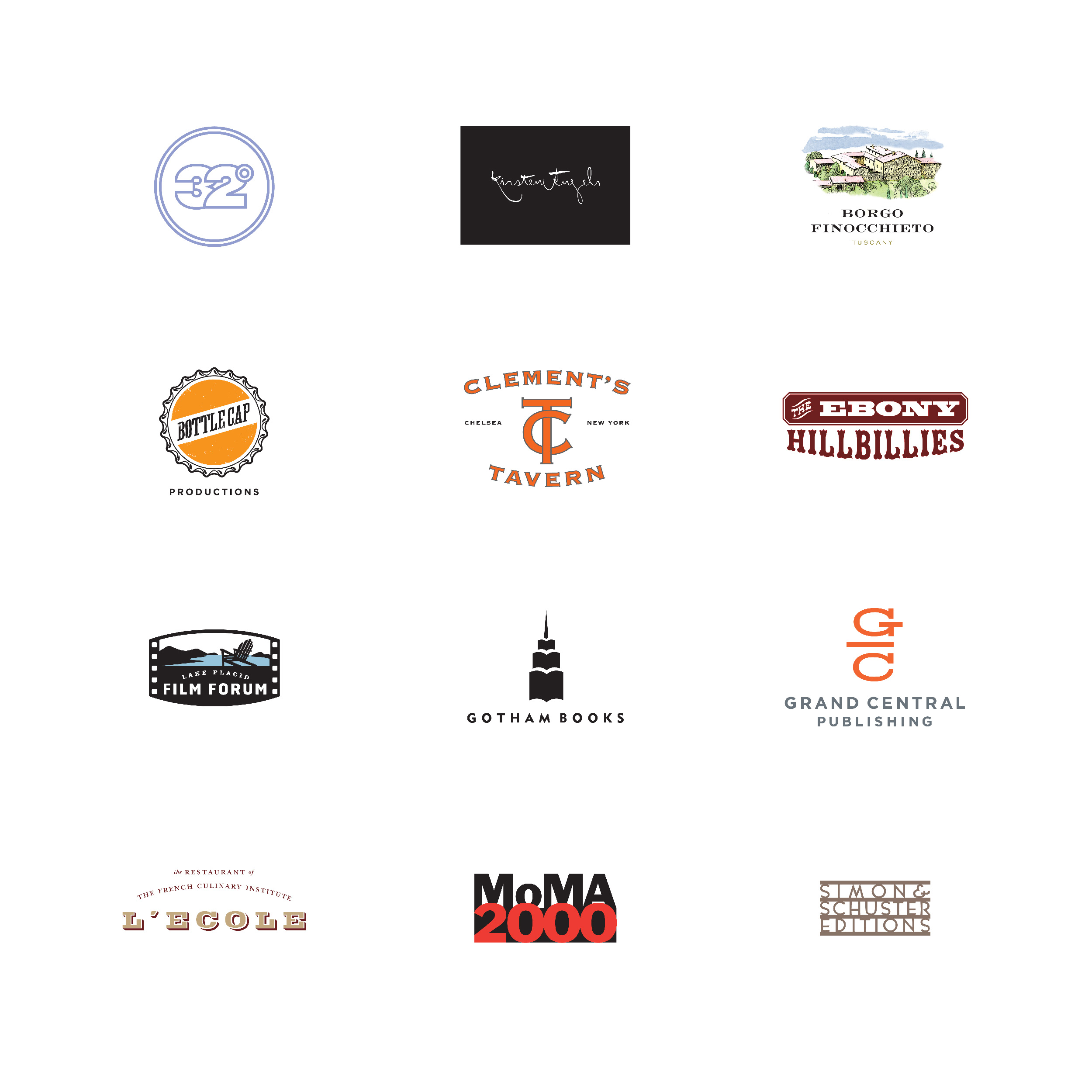 Sejumlah Logo oleh Eric Baker