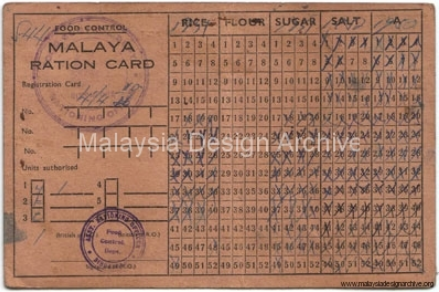 12. 1953, Malaya Ration Card.