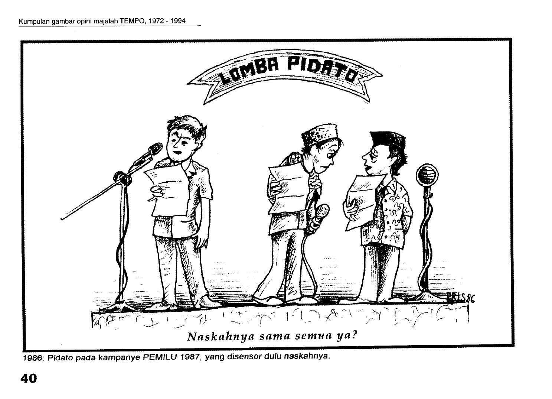 Gambar opini di majalah TEMPO oleh Priyanto Sunarto (1986)