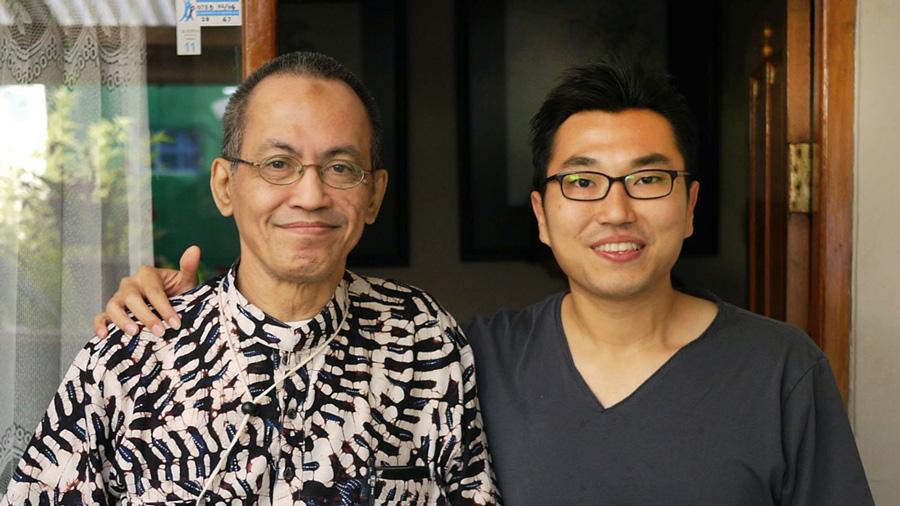 Terakhir kali bersama Pak Pri. Sekeloa, Bandung. 2012. (ki-ka: Priyanto Sunarto, Henricus Kusbiantoro). Dok.: Henricus Kusbiantoro.