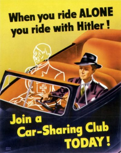Poster When you ride ALONE, you ride with HITLER!.